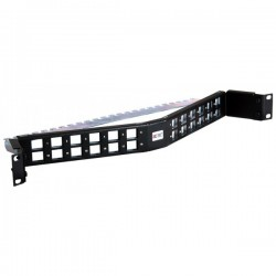 24 Way Unloaded Angled Unloaded Keystone Patch Panel