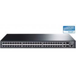 TP-LINK TL-SL3452 48-Port 10/100Mbps + 4-Port Gigabit L2 Managed Switch