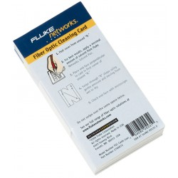 Fiber Optic cleaning cards (5 pack)
