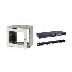 6u 300mm Deep Wall Mount Cabinet Kit