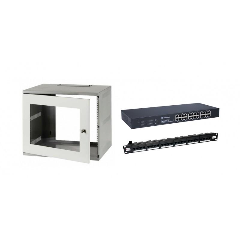 6u 300mm Deep Wall Mount Cabinet Kit
