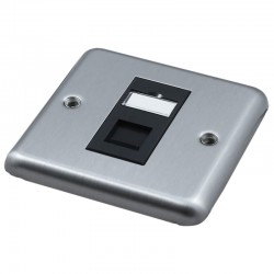 Singlegang Metal Faceplate with 1 Cat5e UTP Module