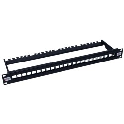 24 Way Unloaded UTP Keystone Patch Panel