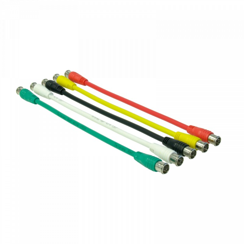 Kit of five coloured cables