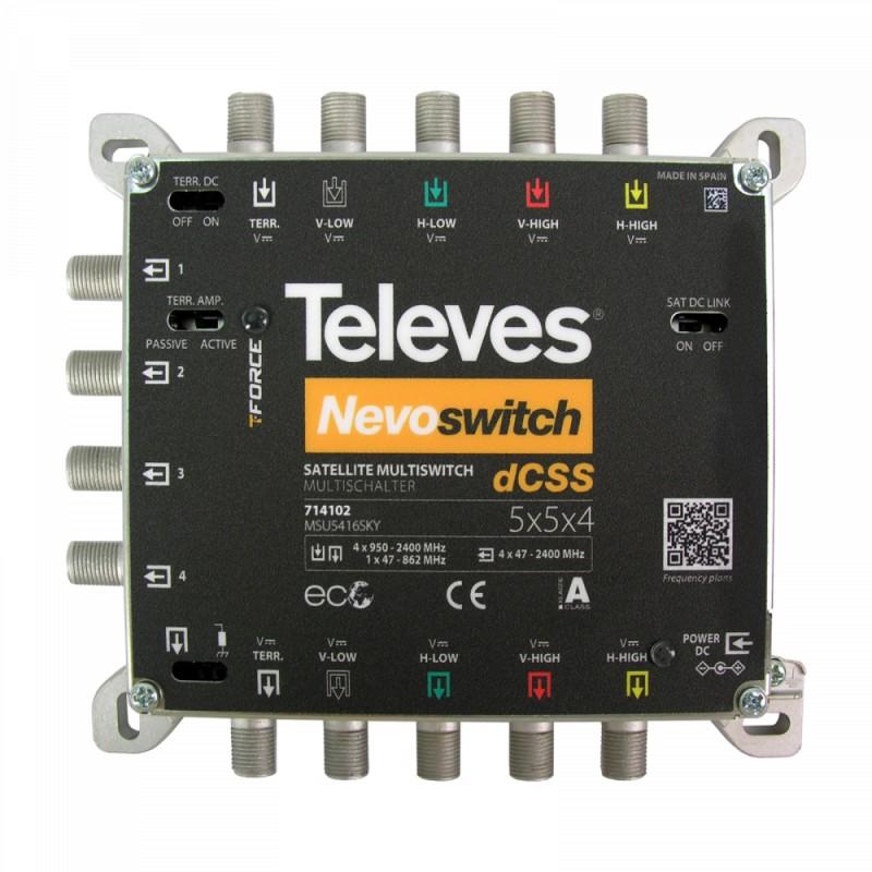 dCSS NevoSwitch 5 inputs - 4 outputs
