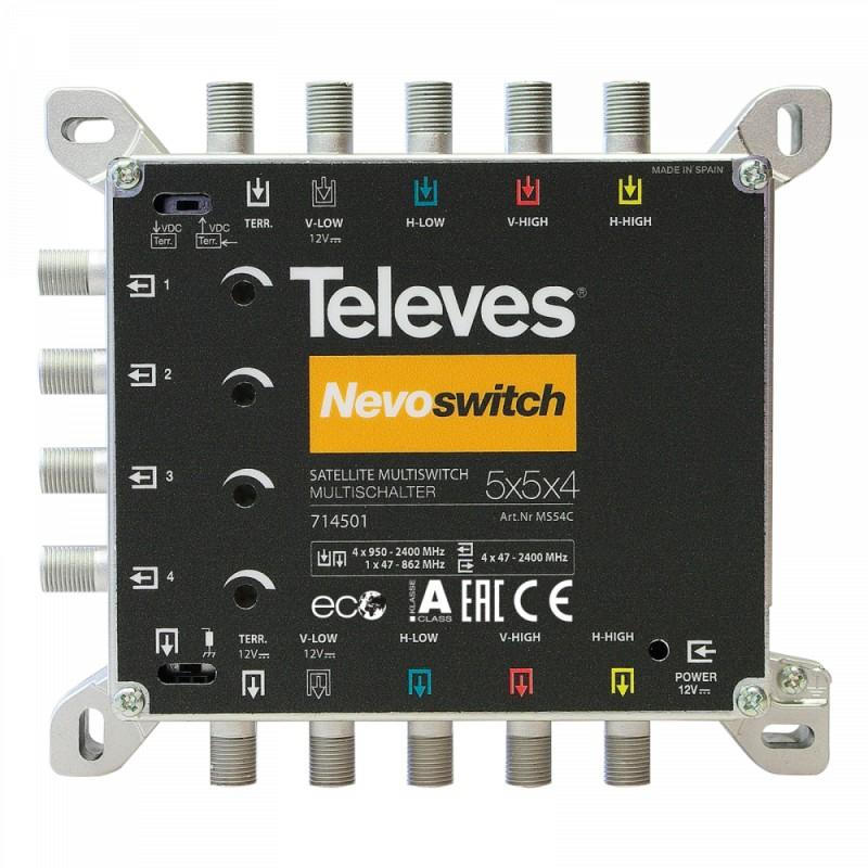 NevoSwitch 5 inputs - 4 outputs