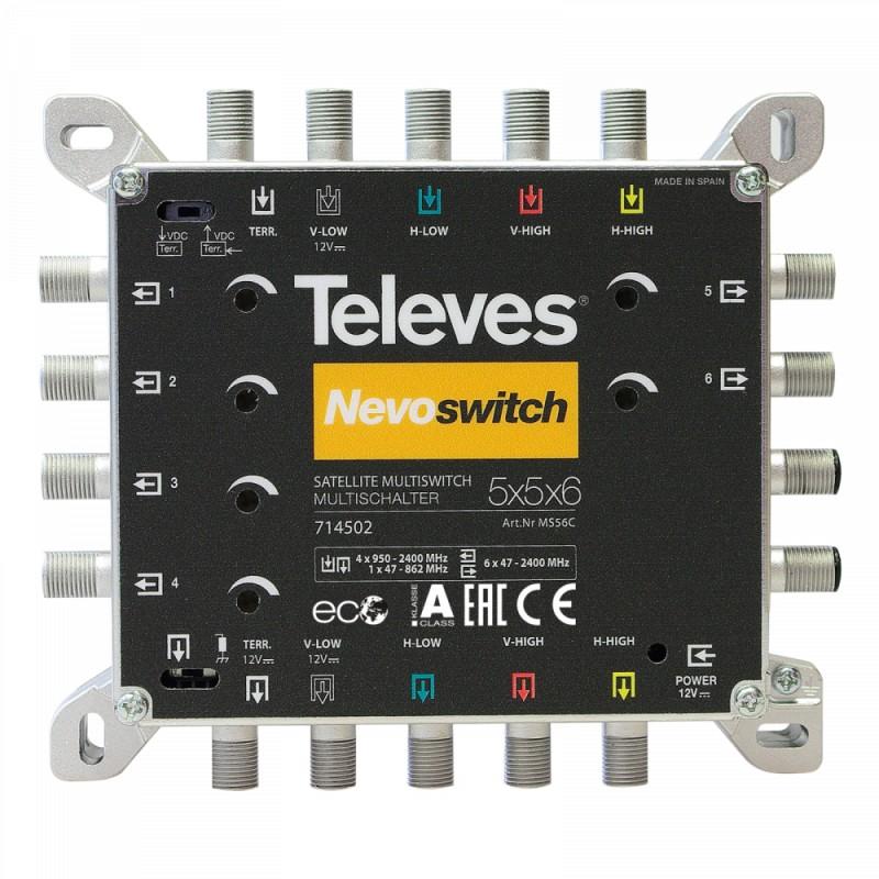 NevoSwitch 5 inputs - 6 outputs