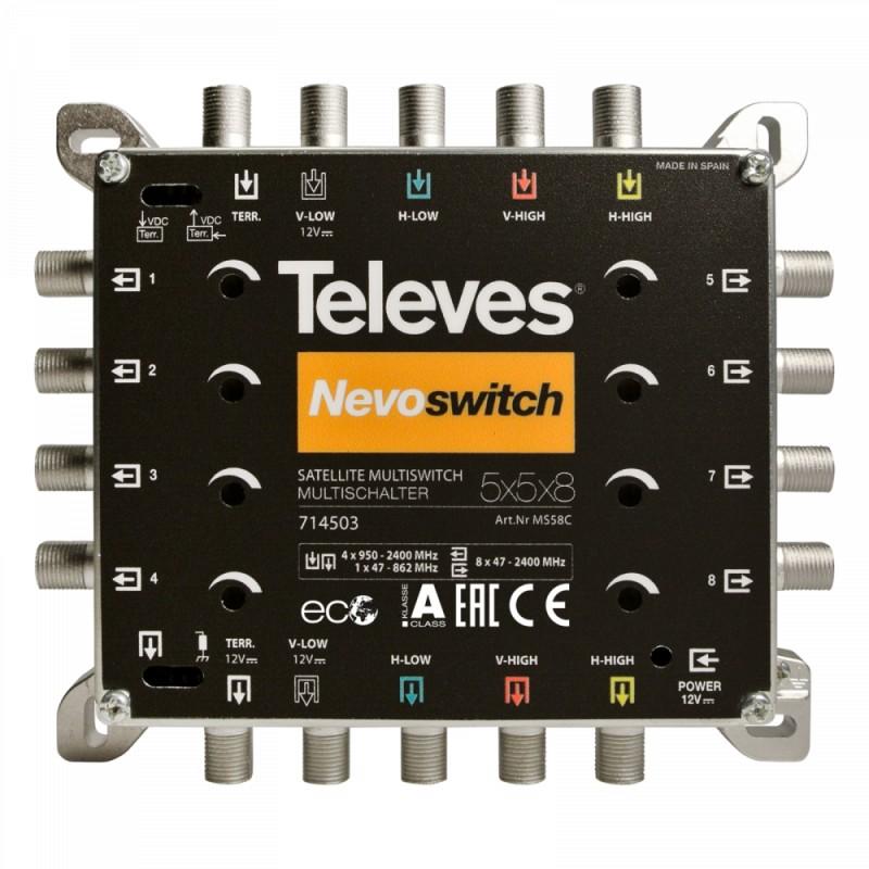 NevoSwitch 5 inputs - 8 outputs