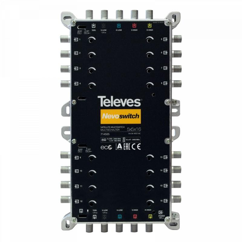 NevoSwitch 5 inputs - 16 outputs