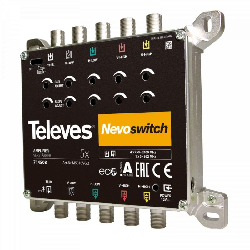 NevoSwitch amplifier - 5 inputs 10/11 dB