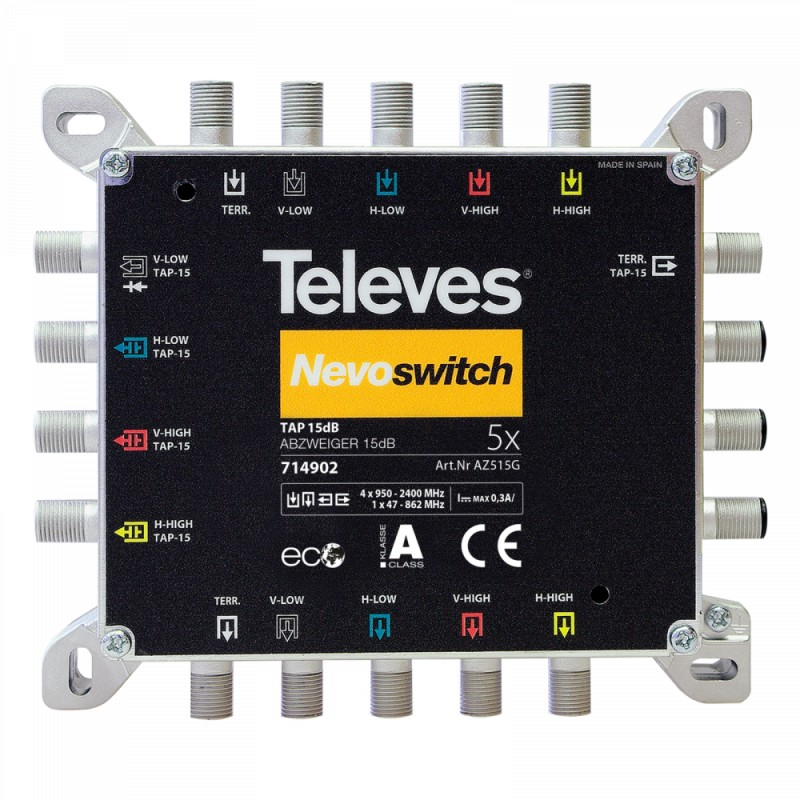 NevoSwitch tap - 5 inputs 15dB