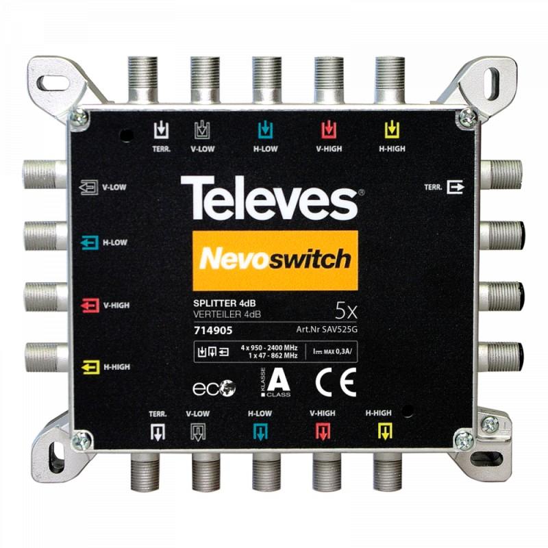 NevoSwitch splitter 5 inputs 4/4dB