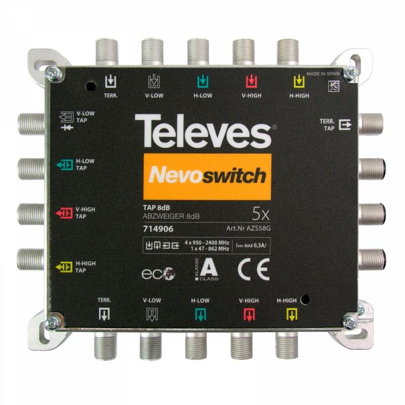 NevoSwitch tap 5 inputs 8dB