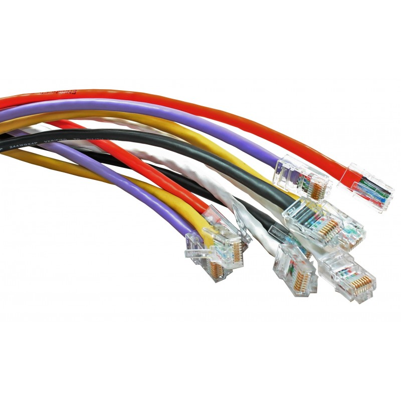 UnBooted Cat5e UTP RJ45 Ethernet Patch Lead
