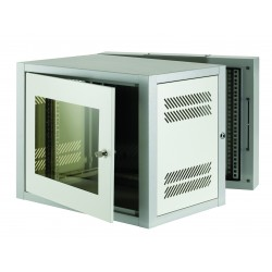 9u 500mm Deep 2 Part Wall Mounted Data Cabinet
