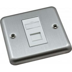 Cat6 Metal Style Loaded Faceplates